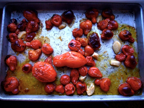 roasted H&O tomatoes